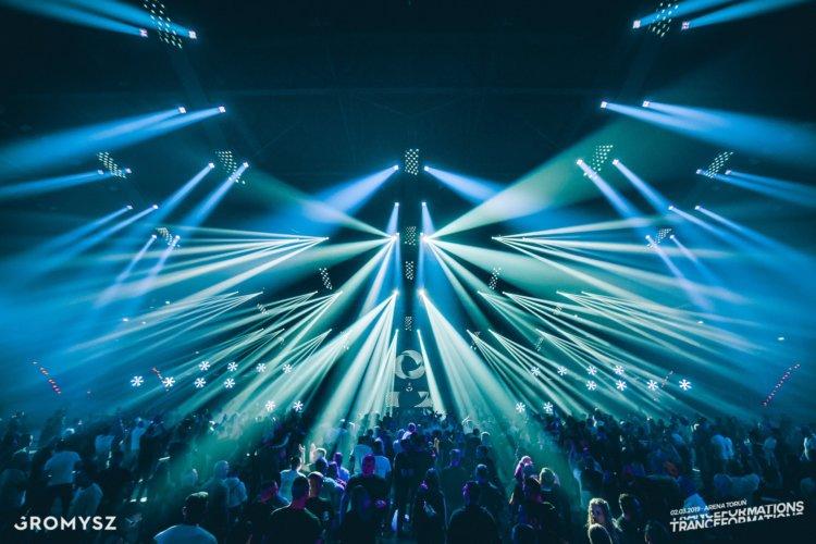 Oświetlenie sceniczne na Tranceformations 2019