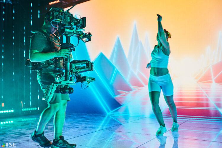Wirtualna Produkcja dla Video Stock